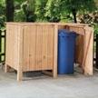 Holz Mülltonnenbox