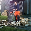 Äxte mit Holzgriff