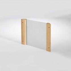 Infraworld Eckblendschirm Design für Sauna Fichte/Espe