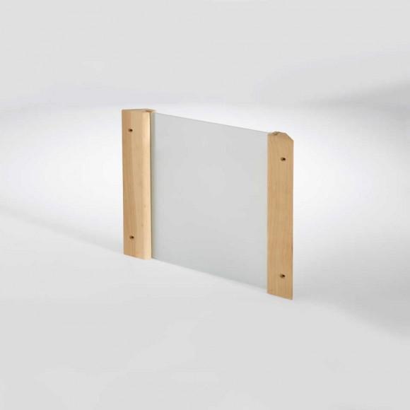Infraworld Eckblendschirm Design für Sauna Fichte