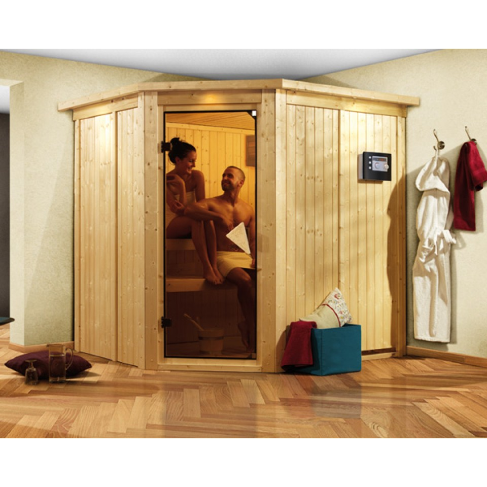 karibu sauna lilja 68 mm systemsauna 230 volt plug play mein mein. Black Bedroom Furniture Sets. Home Design Ideas