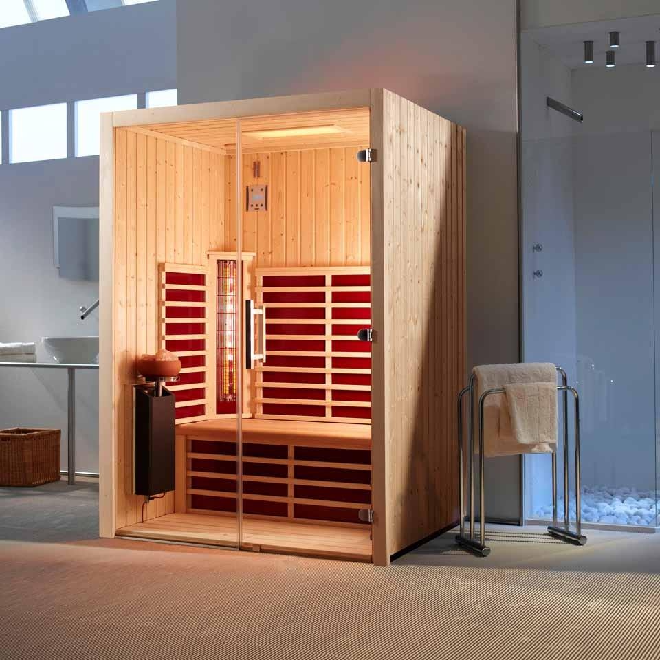 infraworld infrarotkabine triosol glas 145 mein. Black Bedroom Furniture Sets. Home Design Ideas
