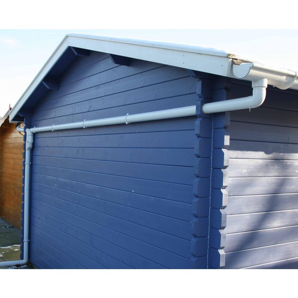 kunststoff dachrinnen ergänzungsset für einseitige entwässerung (max.  abstand der dachseiten: 400 cm)
