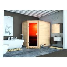 Karibu Woodfeeling Sauna Svea inkl. bronzierter Ganzglastür