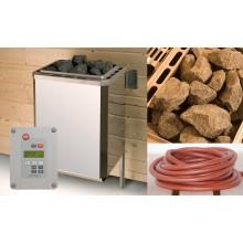 Weka Saunaofen-Set 1 inkl. 3,6 kW Ofen, Anschlusskabel, Saunasteine, Steuergerät