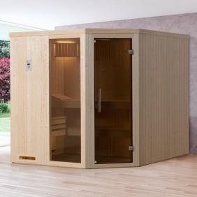 Weka Sauna Kasala 3 - Elementsauna mit Eckeinstieg