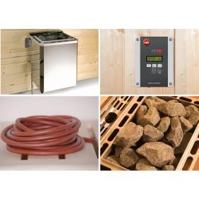 Karibu 9 kW Bio-Kombiofen Saunaofen inkl. Steuergerät Premium - Sparset