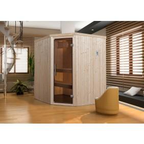 Weka Sauna Kiruna 2 mit Glastür und Eckeinstieg 230 V - 68 mm