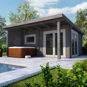 Infraworld Gartenhaus/Poolhaus Living 1