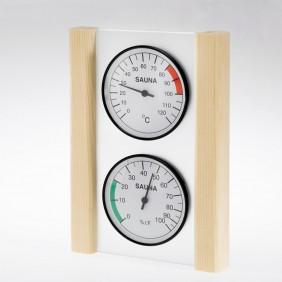Infraworld Klimamessstation mit Glas-Holzrahmen in Fichte