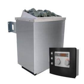 Karibu 9 kW Bio-Kombiofen Saunaofen inkl. Steuergerät Modern- Sparset