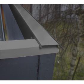 Blendenabdeckungs-Set für Flach- und Pultdächer anthrazit (8 Stück)