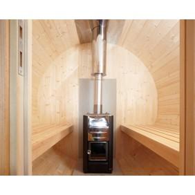 Wolff Finnhaus holzbeheizter Ofen 13 kW +CE Schornstein für Saunakota