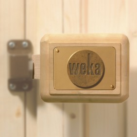 Weka Saunatürgriff-Set für Massivholztür