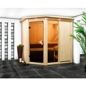 Karibu Sauna Fiona 1 mit Eckeinstieg 68 mm