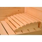 Karibu Sauna Cortona - Massivholzsauna mit Eckeinstieg 40 mm - Sparset