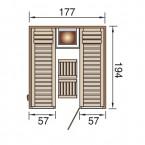 Weka Elementsauna 506 GT Gr. 3 für 2 Personen - Grundriss