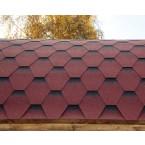 Wolff Finnhaus Saunafass Dachschindeln rot