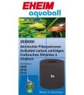 EHEIM EHEIM Aquarium Aktivkohlepatrone für Innenfilter 2208-2212, aquaball 60-180 & biopower 160 2 Stück
