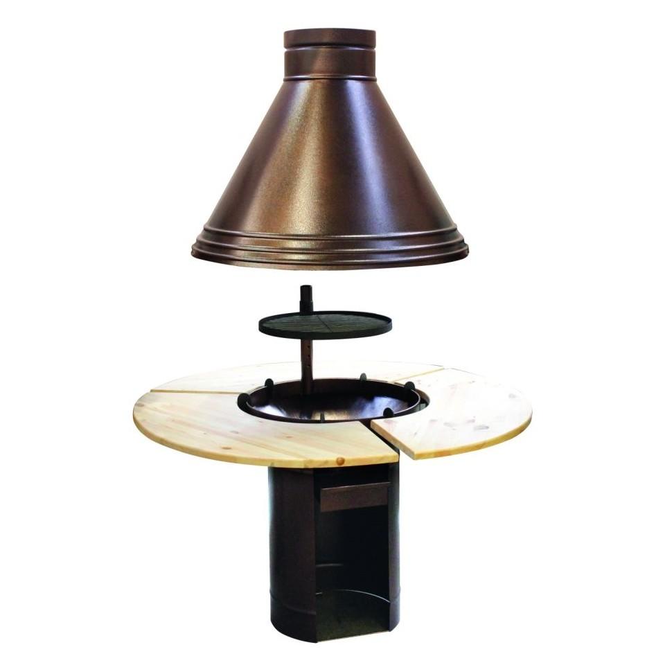 palmako grillanlage haube und tisch f r eva. Black Bedroom Furniture Sets. Home Design Ideas