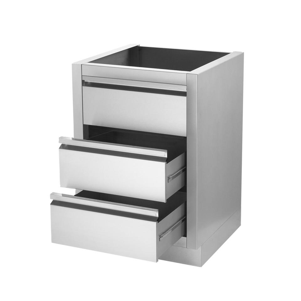 napoleon schubladenschrank 2 laden blende aus hochwertigem edelstahl. Black Bedroom Furniture Sets. Home Design Ideas