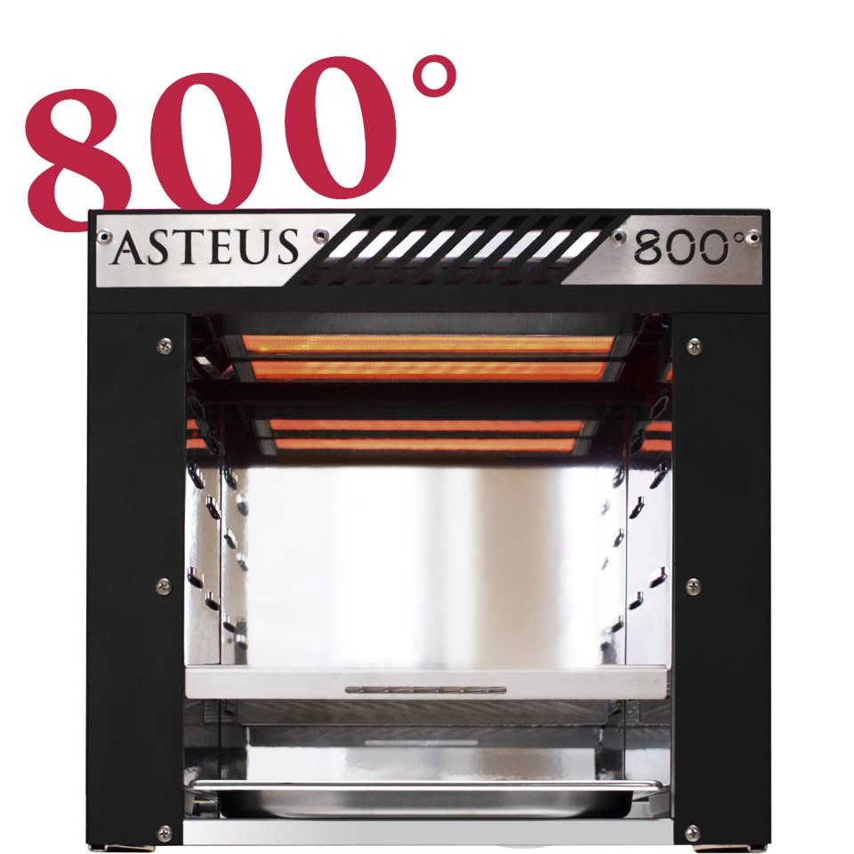 asteus black willy 800 grad infrarot elektro grill. Black Bedroom Furniture Sets. Home Design Ideas