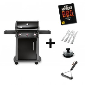 Weber Spirit E-310 Original Gasgrill Schwarz Aktions-Set
