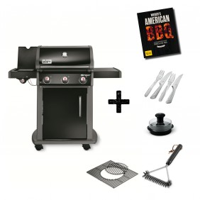 Weber Spirit E-320 Original (GBS) Gasgrill Schwarz Aktions-Set