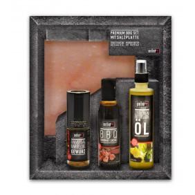 Premium BBQ Set mit Salzplanke
