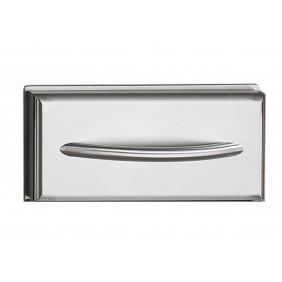 NAPOLEON Edelstahl Einbau Schublade mit gewölbtem Edelstahl-Griff