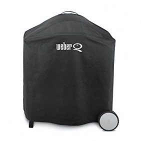 Weber Premium Abdeckhaube für Q-Serie mit Premium Rollwagen