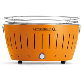 LotusGrill Rauchfreier Holzkohlegrill XL-Mandarinenorange