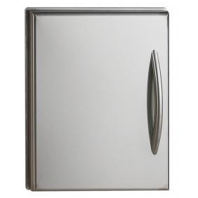 NAPOLEON Edelstahl Einbau Türe mit gewölbtem Edelstahl-Griff