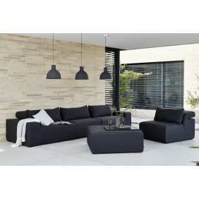 Kettler ROYAL Sofa-Hocker SUNBRELLA silber/anthrazit Modul-Bild