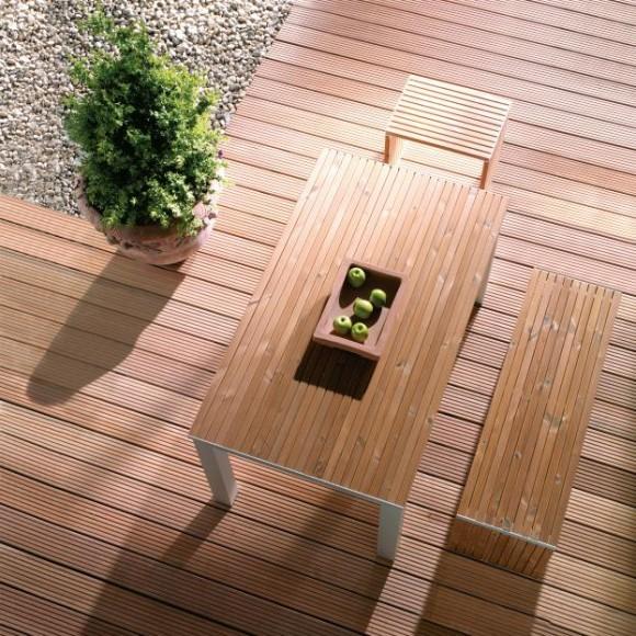 Osmo Terrassendiele Bangkirai Genutet / Geriffelt - Premium | Mein