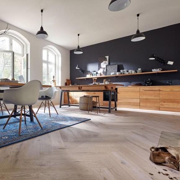 MeisterWerke Longlife-Parkett Residence PS 500 Eiche authentic weiß ...
