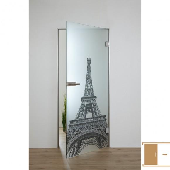 SPRINZ Ganzglasschiebetüre Digitaldruck Motiv PARIS