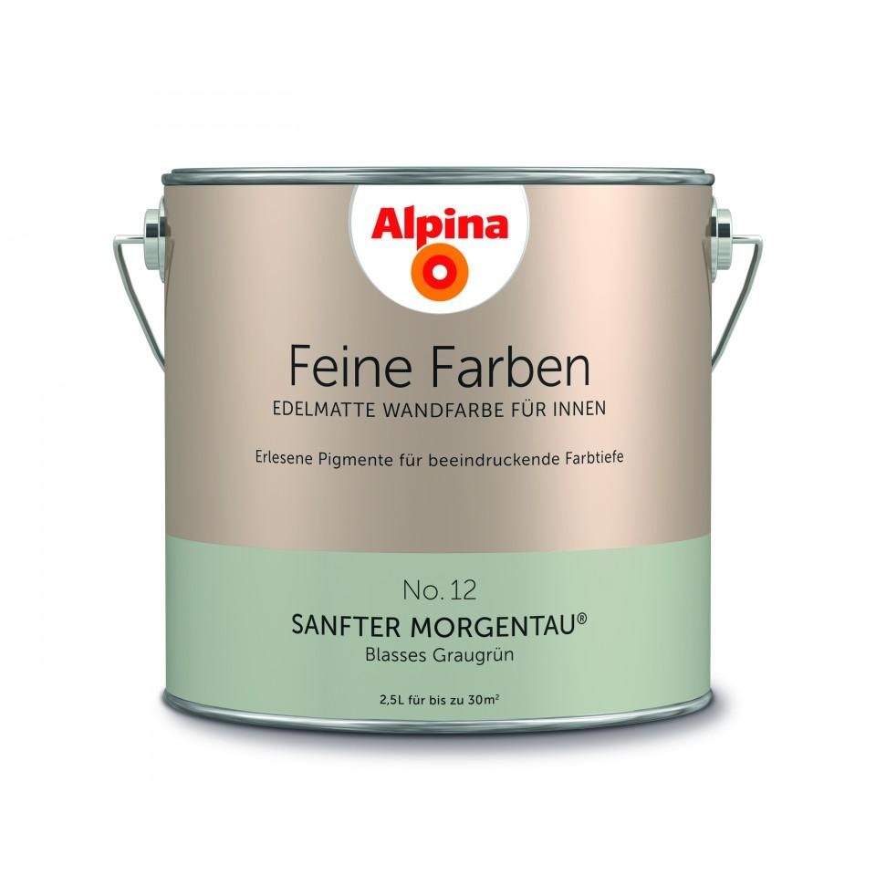 alpina feine farben no 12 sanfter morgentau jetzt liefern lassen. Black Bedroom Furniture Sets. Home Design Ideas