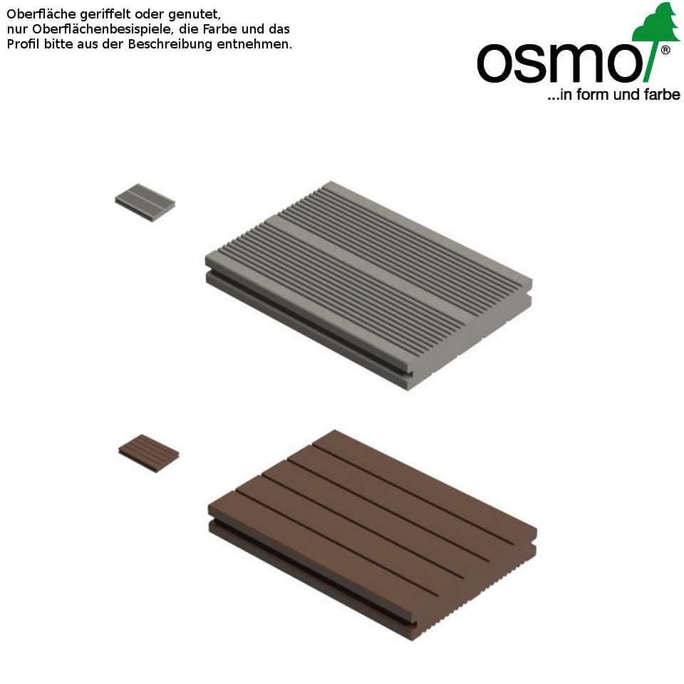 osmo multi deck bpc terrassendiele vollprofil dunkelbraun genutet oder geriffelt mein. Black Bedroom Furniture Sets. Home Design Ideas