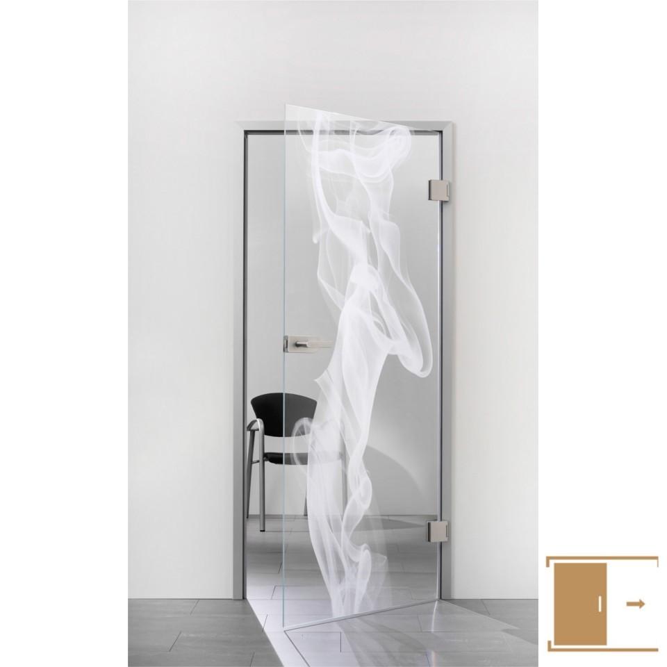 Sprinz Ganzglasschiebetüre Laserinnengravur Motiv Toulouse Aus, Möbel