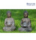 Boltze Windlicht BUDDHA 2-tlg. Set Höhe 41 cm