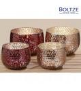 Boltze Windlicht PINKY Glas Farbmix 2-tlg. Set