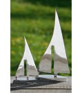 Boltze Segelboot aus Aluminium in silber