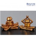 Boltze Deko-Figur FROSCH RELAX 2-tlg. Set Höhe 10 cm