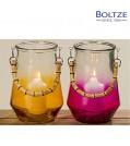 Boltze Windlicht BOANO 2-tlg. Set in Orange und Pink