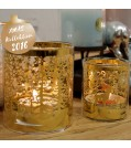 Boltze Windlich SLAJA 2-tlg. aus Glas in Gold