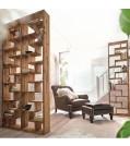 Raumteiler & Regal WOODY aus Teak-Holz