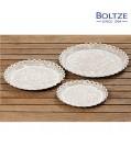 Boltze Deko-Teller YANA 3-tlg. Set beige