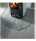 Haas+Sohn Funkenschutzplatte Klarglas Form D - mit schrägen Ecken