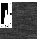 MeisterWerke Steckfußleiste 8 PK Black Lava 7323, 6957257323